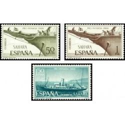 3 عدد تمبر خیریه کودکان - کشتی ها - اسپانیا صحرا 1966
