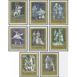 8 عدد تمبر صدمین سال مرگ استینسلاو مونیسکو - تئاتر و باله - لهستان 1972
