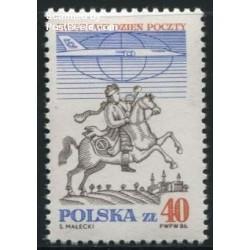 1 عدد تمبر روز جهانی پست - لهستان 1986