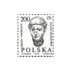 1 عدد تمبر سری پستی - سرهای مجسمه قلعه واول در کراوف  - لهستان 1986