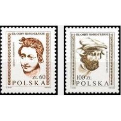 2 عدد تمبر مجسمه های قلعه واول - لهستان 1982 قیمت 6.5 دلار