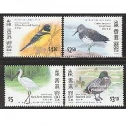 4عدد تمبر پرندگان - هنگ کنگ 1997