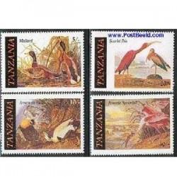 4 عدد تمبر پرندگان  - تانزانیا1986