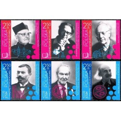 6 عدد تمبر دستاوردهای علمی لهستان - لهستان 2016 جدا شده از شیت