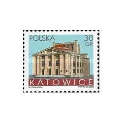 1 عدد تمبر شهرهای لهستان - Katowice - لهستان 2005