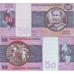 اسکناس 50 کروزرو - برزیل 1980
