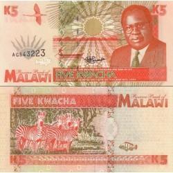 اسکناس 5 کواچا - مالاوی 1995