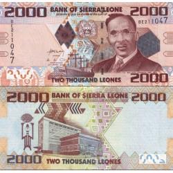 اسکناس 2000 لئون - سیرالئون 2010