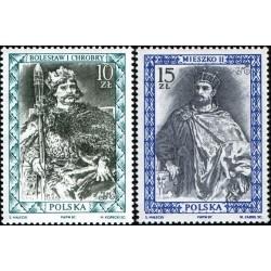 2 عدد تمبر فرمانروایان تاریخی - لهستان 1987