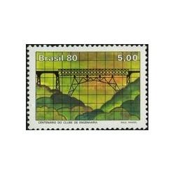 1 عدد تمبر صدمین سالگرد باشگاه مهندسی - برزیل 1980