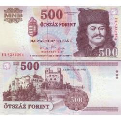 اسکناس 500 فورینت - مجارستان 2007  سفارشی - توضیحات را ببینید
