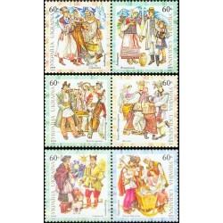 6 عدد تمبر لباسهای محلی - اوکراین 2004
