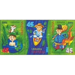 3 عدد تمبر افسانه های اوکراینی - اوکراین 2004