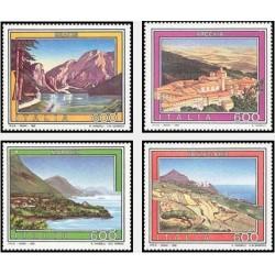 4 عدد تمبر تبلیعات توریست - تابلوهای نقاشی - ایتالیا 1992