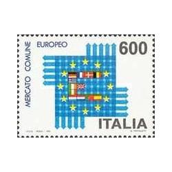 1 عدد تمبر بازار واحد اروپا - ایتالیا 1992
