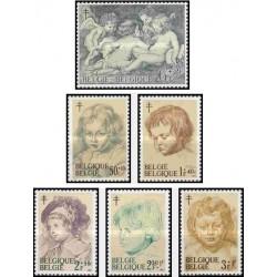 6 عدد تمبر مبارزه علیه سل - تابلو نقاشی - بلژیک 1963