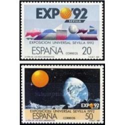 2 عدد تمبر نمایشگاه اکسپو 92 سویل - 2 - اسپانیا 1987