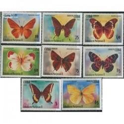 8 عدد تمبر پروانه ها - کوبا 2013