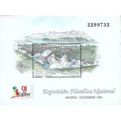 سونیرشیت نمایشگاه بین المللی تمبر مادرید - اگزفیلنا 91 - اسپانیا 1991