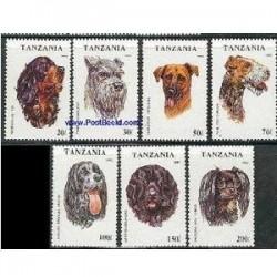 7 عدد تمبر سگها -تانزانیا 1993