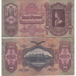اسکناس 100 پنگو - مجارستان 1930 غیر بانکی