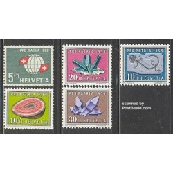 5 عدد تمبر پروپارتیا - سوئیس 1959