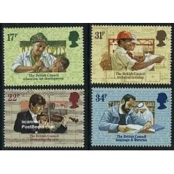 4 عدد تمبر شورای بریتانیا - انگلیس 1984