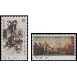2 عدد تمبر مشترک اروپا - Europa Cept - تابلو نقاشی- ایرلند 1982 قیمت 6 دلار