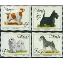 4 عدد تمبر سگها - وندا 1994