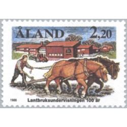 1 عدد تمبر صدمین سال تحقیقات کشاورزی - آلاند 1988 قیمت 2.7 دلار
