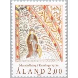 1 عدد تمبر نقاشی های دیواری کلیسای کوملینگ - آلاند 1990 قیمت 1.6 دلار