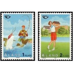 2 عدد تمبر توریسم - آلاند 1995