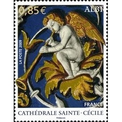 1 عدد تمبر کلیسای سنت سیسیلیا - فرانسه 2009 ارزش روی تمبر 0.8 یورو