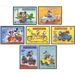 7 رقم از 9 عدد تمبر کارارکترهای والت دیسنی  سال بین المللی کودک - آنتیگوا و باربودا 1980