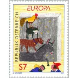1 عدد تمبر مشترک اروپا - Europa Stamp - افسانه پریون - اتریش 1997 قیمت 2.7 دلار
