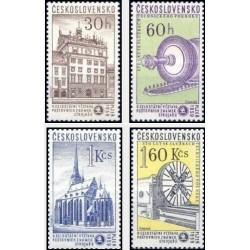 4 عدد تمبر نمایشگاه تمبر و آثار اسکودا  - چک اسلواکی 1959