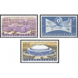 3 عدد تمبر نمایشگاه  بین المللی برنو - چک اسلواکی 1959