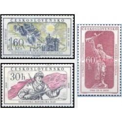 3 عدد تمبر 15مین سال قیام ملی اسلواک و 40مین سال جمهوری - چک اسلواکی 1959