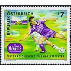 1 عدد تمبر ممفیس قهرمان فوتبال اتریش - اتریش 1998