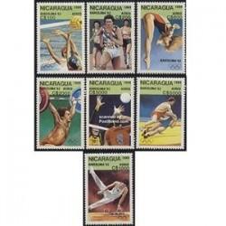 7 عدد تمبر المپیک  - نیکاراگوئه 1989