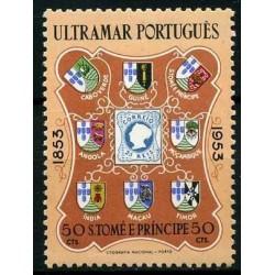 1 عدد تمبر 100مین سال تمبر پرتغال با 8 مستعمره - سائو تام و پرینسیپ 1953