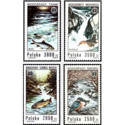 4 عدد تمبر دومین کنفرانس محیط زیست و توسعه - ریودوژانیرو - اجلاس زمین  - لهستان 1992