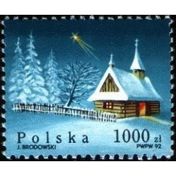 1 عدد تمبر کریستمس  - لهستان 1992