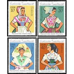 4 عدد تمبر لباسهای محلی سوبایی  - جمهوری دموکراتیک آلمان 1971