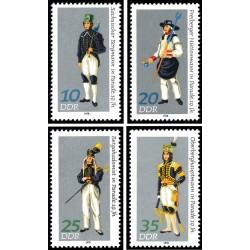 4 عدد تمبر لباسهای محلی- جمهوری دموکراتیک آلمان 1978