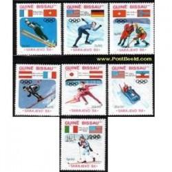 7 عدد تمبر المپیک زمستان سارایو - گینه بیسائو 1984