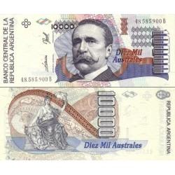 اسکناس 10000 اوسترال - آرژانتین 1989 سری A و B