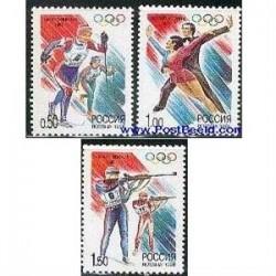 3 عدد تمبر المپیک زمستانی ناگانو - روسیه 1998