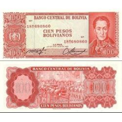 اسکناس 100 پزو - بولیوی 1962