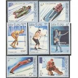 7عدد تمبر المپیک زمستانی کالگاری - لائوس 1987